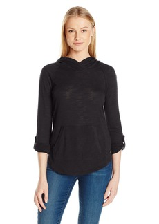 Calvin Klein Performance Women's Kanga Pocket Pullover with Converitble Sleeve  L