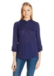 Calvin Klein Performance Women's Kanga Pocket Pullover with Converitble Sleeve  XL