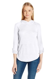 Calvin Klein Performance Women's Kanga Pocket Pullover with Converitble Sleeve  XS