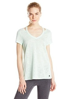 Calvin Klein Performance Women's Knit Cutout-Shoulder T-Shirt