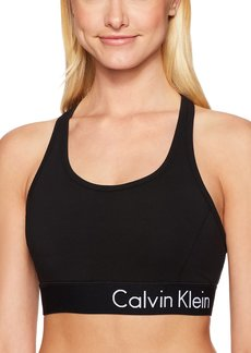Calvin Klein Performance Women's Logo Elastic Key Hole Back Bra  M