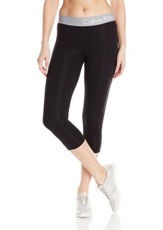 Calvin Klein Performance Women's Logo Elastic Seamed Crop Legging  L