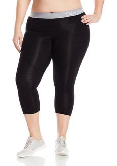 Calvin Klein Performance Women's Logo Elastic Seamed Crop Legging  S