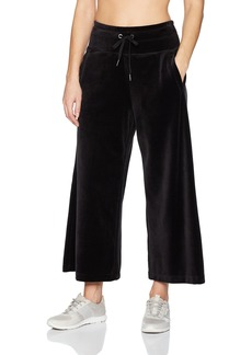 Calvin Klein Performance Women's Logo Velour Ultra Wide Leg Pant  M