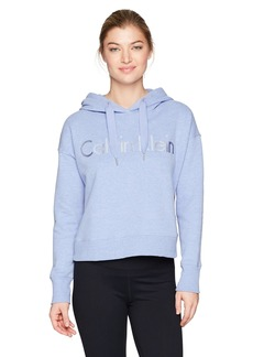 Calvin Klein Performance Women's Long Sleeve Cropped Boxy Pullover Hoodie  L