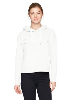 Calvin Klein Performance Women's Long Sleeve Cropped Boxy Pullover Hoodie  M