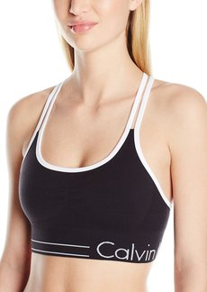 Calvin Klein Performance Women's Longline Strappy Bra with Ruched Front  XL