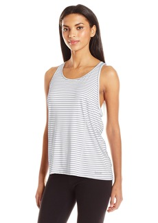 Calvin Klein Performance Women's Marker Stripe Pleat Back Tank  M