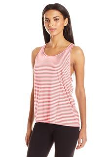 Calvin Klein Performance Women's Marker Stripe Pleat Back Tank  S