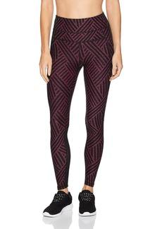 Calvin Klein Performance Women's Maze Print High Waist Curved Mesh Full Length Tight  M