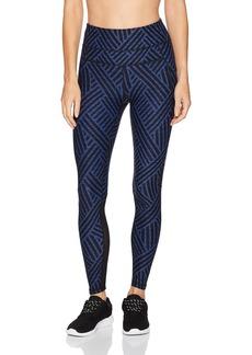 Calvin Klein Performance Women's Maze Print High Waist Curved Mesh Full Length Tight  XL