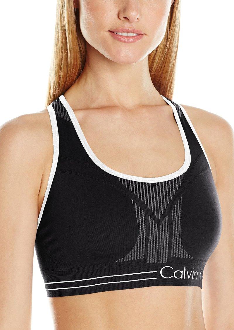 Calvin Klein Performance Women's Medium Impact Reversible Bra Top  L