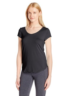 Calvin Klein Performance Women's Mesh Open Strappy Back Shortsleeve Tee  L