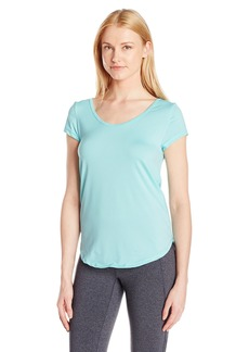 Calvin Klein Performance Women's Mesh Open Strappy Back Shortsleeve Tee  XL