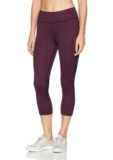 Calvin Klein Performance Women's Microstripe Crop Tight With Power Mesh  S