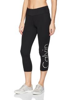 Calvin Klein Performance Women's Midrise Gradient Dot Logo Crop Length Tight  M