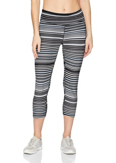 Calvin Klein Performance Women's Midrise Journey Stripe Crop Length Tight W/Back Shirring  XL