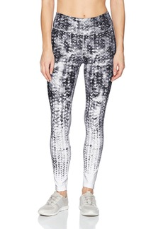 Calvin Klein Performance Women's Midrise Traction Print Full Length Tight W/Back Mesh  M