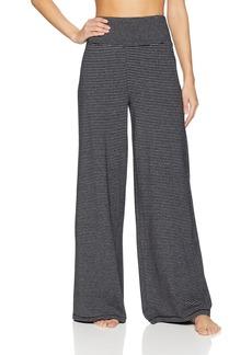 Calvin Klein Performance Women's Mini Stripe High Waist Wide Leg Pant