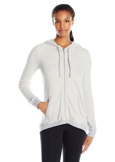 Calvin Klein Performance Women's Mini Stripe Sharkbite Hoodie Jacket