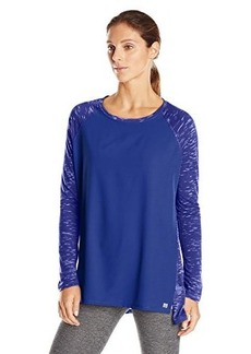 Calvin Klein Performance Women's Mixed Fabric Long Sleeve Tee