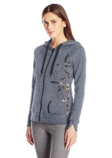 Calvin Klein Performance Women's Molten Cut Off Logo Zip Hoodie Jacket  S