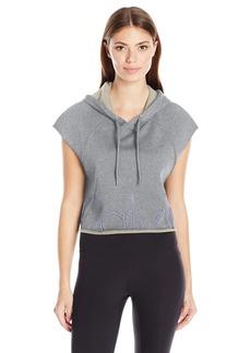 Calvin Klein Performance Women's Outline Cut Off Logo Crop Pullover Hoodie  XL