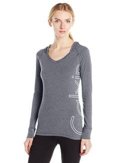 Calvin Klein Performance Women's Outline Cut Off Logo Sleeve Hoodie  S