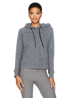 Calvin Klein Performance Women's Oversized Logo Hoodie Bonded Sleeve/Side Seams  L