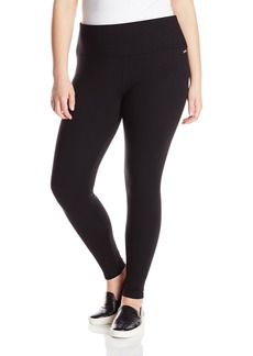 Calvin Klein Performance Women's Plus-Size 32 Inch Inseam Control Waistband Full Length Legging-Techno Roma Plus-Size