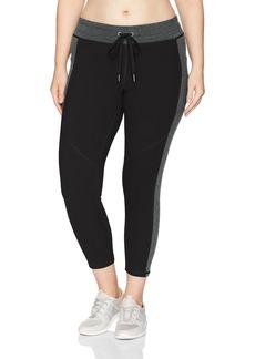 Calvin Klein Performance Women's Plus Size Colorblocked Drawstring Waistband 7/8 Legging