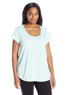 Calvin Klein Performance Women's Plus Size Cut Out Back Relaxed Tee