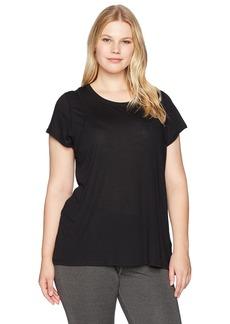 Calvin Klein Performance Women's Plus Size Epic Knit Short Sleeve Tee W/Inset Shoulder Seams