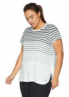 Calvin Klein Performance Women's Plus Size Pocket TEE with Round Hem & Side Slits