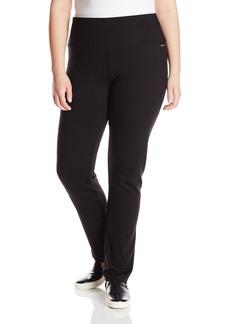Calvin Klein Performance Women's Plus-Size Ponte Knit Straight Leg Pant