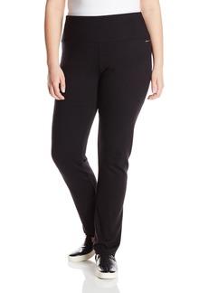 Calvin Klein Performance Women's Plus Size Ponte Knit Straight Leg Pant
