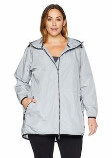 Calvin Klein Performance Women's Plus Size Walker Length Jacket Packable INTO Backpack