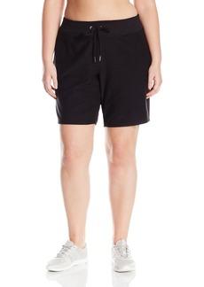 Calvin Klein Performance Women's Plus Sizebaby Boucle Bermuda Short With Pocket-No Cuff (p8828r) Size  1X