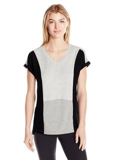 Calvin Klein Performance Women's Plus Sizecolorblock Pullover Tee Size