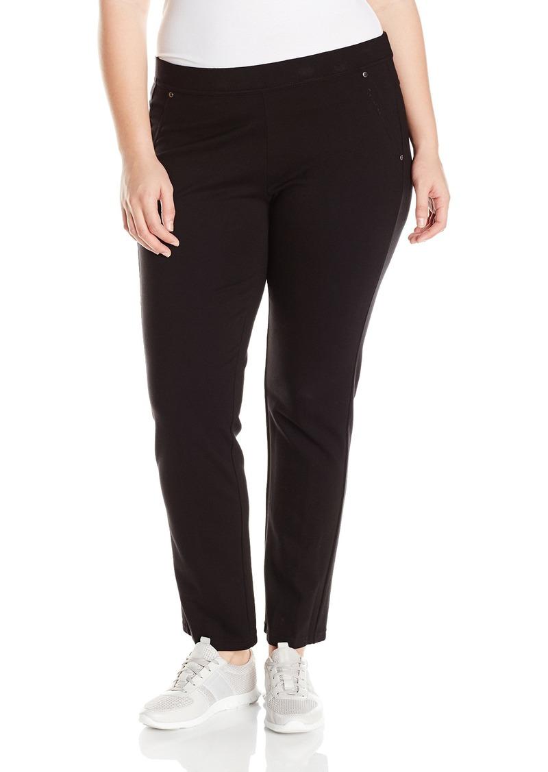 Calvin Klein Performance Women's Plus SizePonte Back Pkt Straight Leg Pant Size