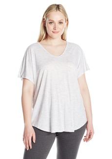 Calvin Klein Performance Women's Plus SizeSpacedye Jersey Tee with Inner T-Back Size