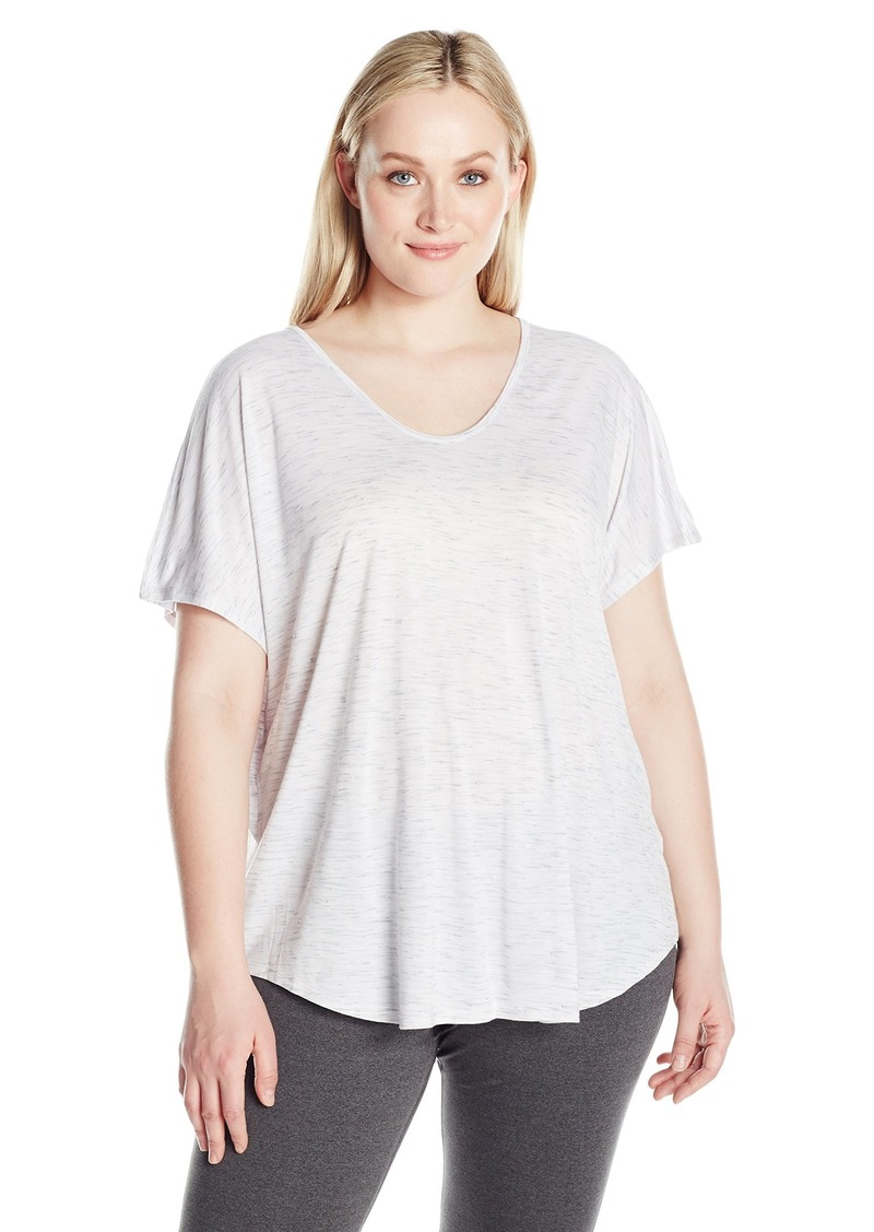 Calvin Klein Performance Women's Plus SizeSpacedye Jersey Tee with Inner T-Back Size