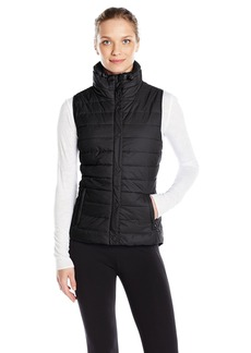 Calvin Klein Performance Women's Quilted Vest With Sherpa Collar  L
