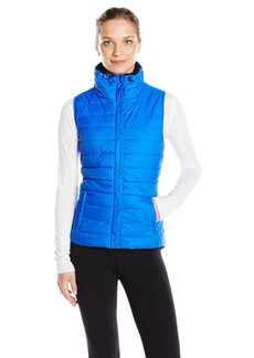 Calvin Klein Performance Women's Quilted Vest with Sherpa Collar Surf The Web S