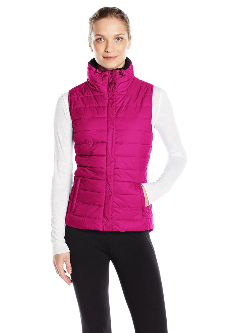 Calvin Klein Performance Women's Quilted Vest with Sherpa Collar