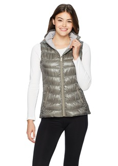 Calvin Klein Performance Women's Quilted Vest With Smoked Sides  L