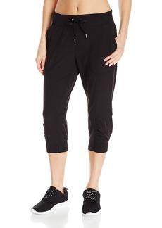 Calvin Klein Performance Women's Rib Cuff Bottom Capri Pant  S