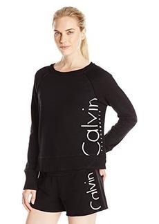 Calvin Klein Performance Women's Rib Trim Exxploded Logo Crop Sweatshirt  M