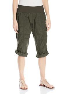 Calvin Klein Performance Women's Rollover Waistband Convertible Length Cargo Crop Pant