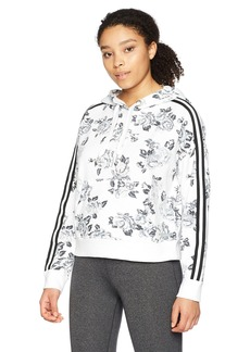 Calvin Klein Performance Women's Rose Spray Print Boxy Hooded Pullover